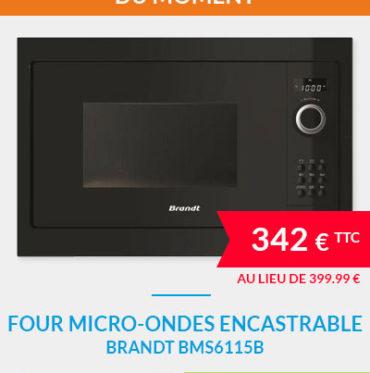 Four micro-ondes encastrable BRANDT BMS6115B