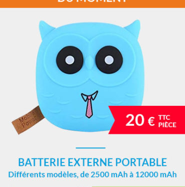 Batteries externes portables