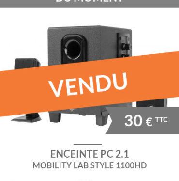 Enceintes multimédia 2.1 pour PCMobility Lab Style 1100HD