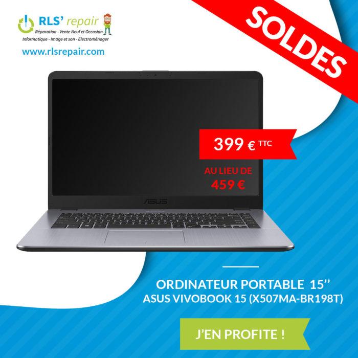 Ordinateur portable ASUS Vivobook 15.6″ avec un disque dur SSD de 256 Go