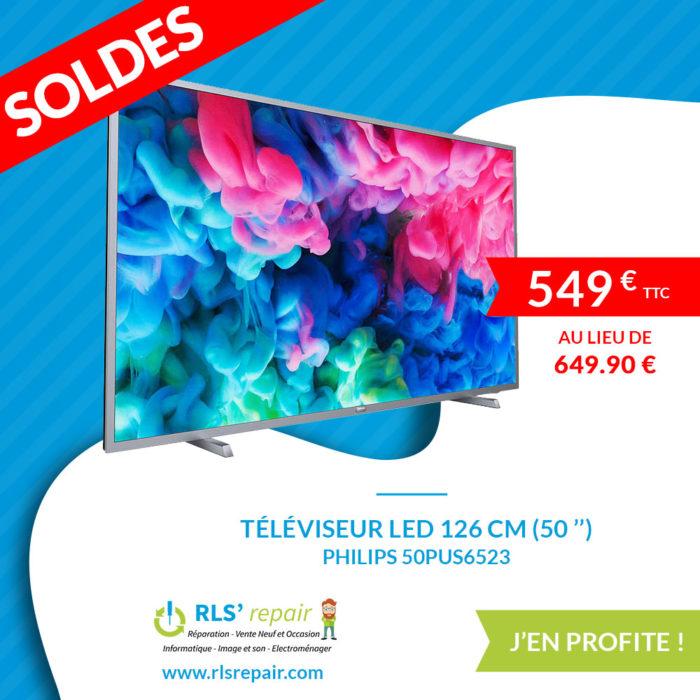 Téléviseur LED 126 cm (50 '') PHILIPS 50PUS6523