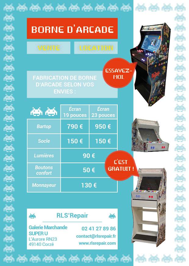 Vente et location de borne d'arcade, Angers