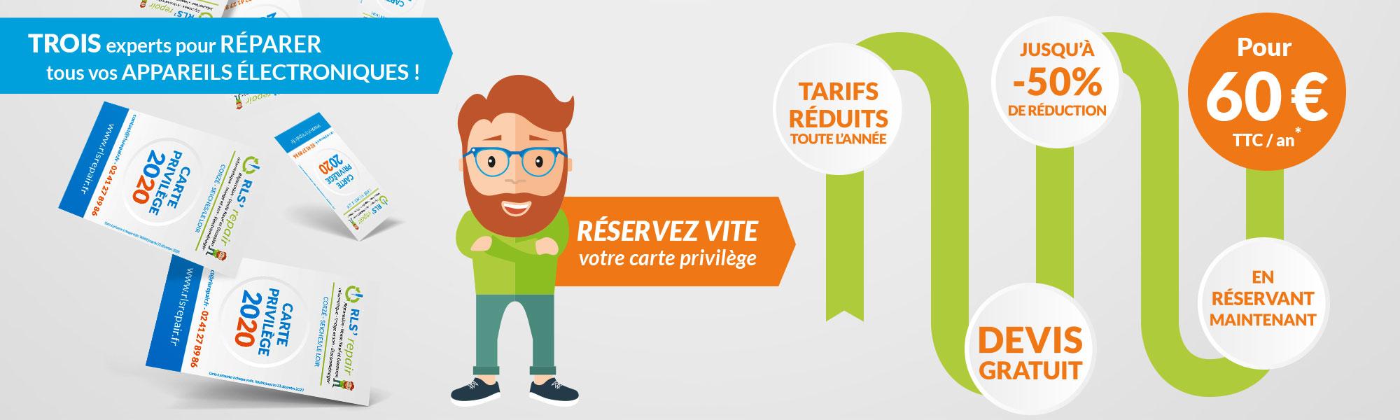 Carte privilège 2020 : promotion