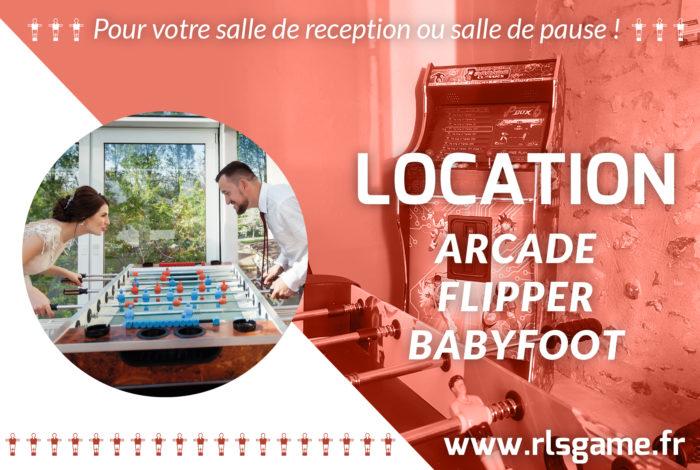 Location de baby-foot, flipper et borne d'arcade, en Maine-et-Loire